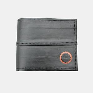 Moška črna denarnica ROWAN _ Črna Zračka iz recikliranih materialov v videzu usnja_ spredaj
